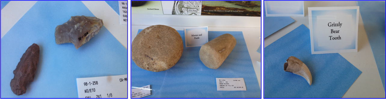 artifacts from archaelogical dig