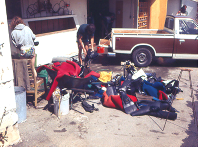 post subtidal class clean up ~ 1978