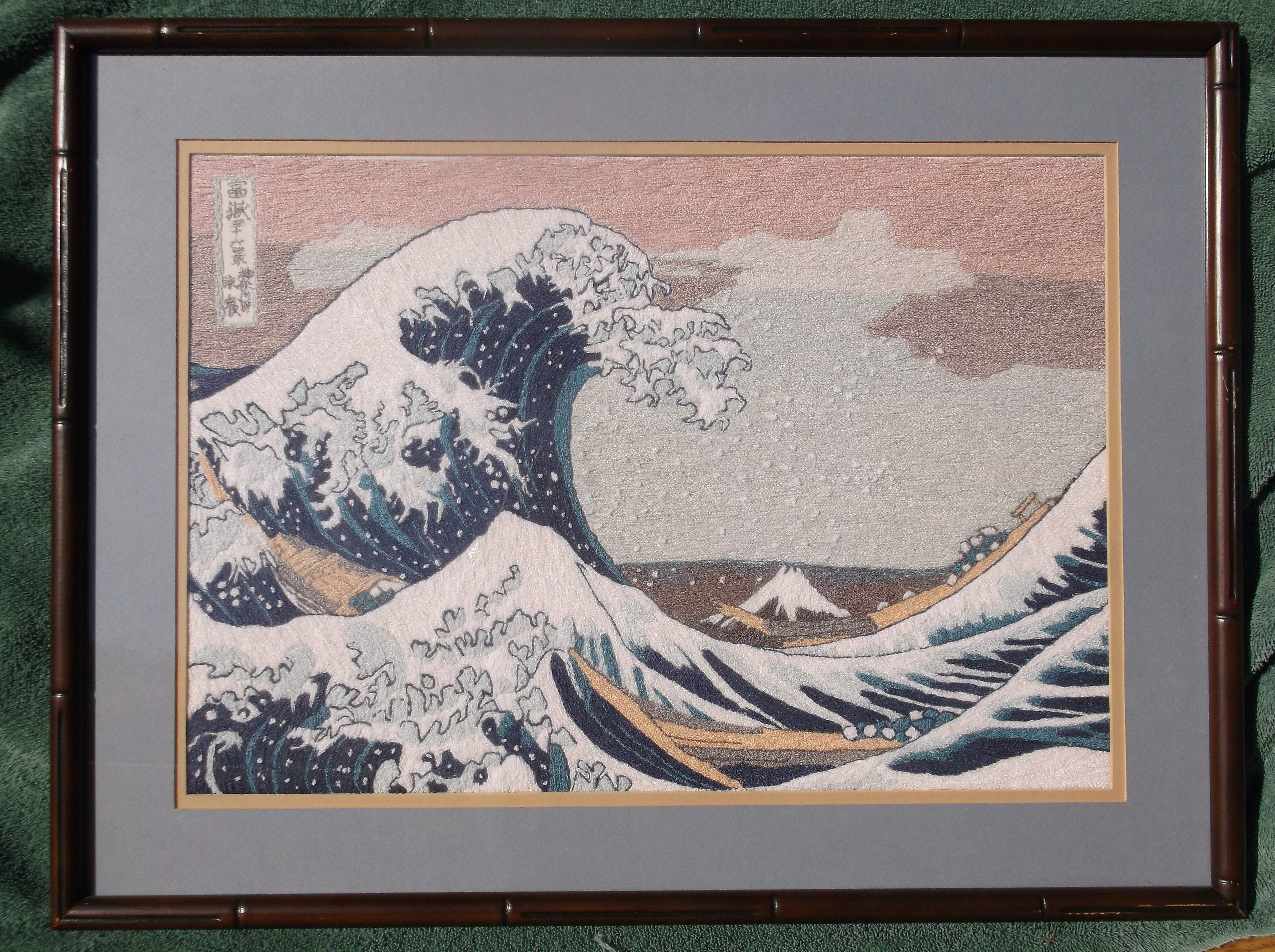 The Great Wave needlepoint