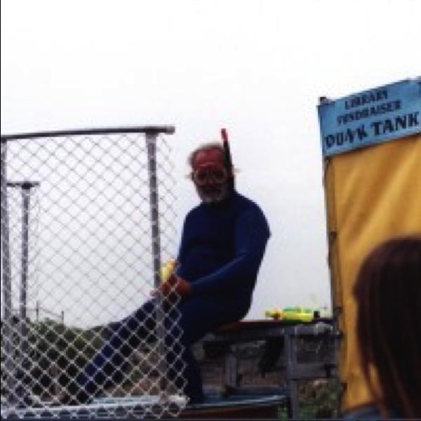 Greg in dunk tank