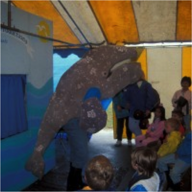 Open House in the tent_whale in puppet show