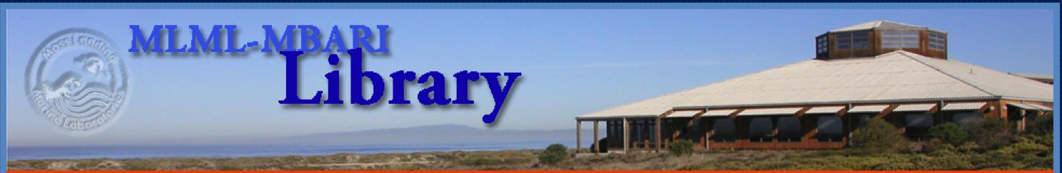 MLML-MBARI library banner