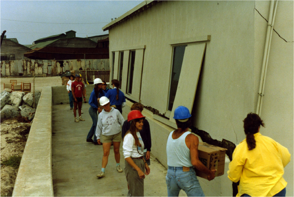 moving the lab after 1989 earthquake