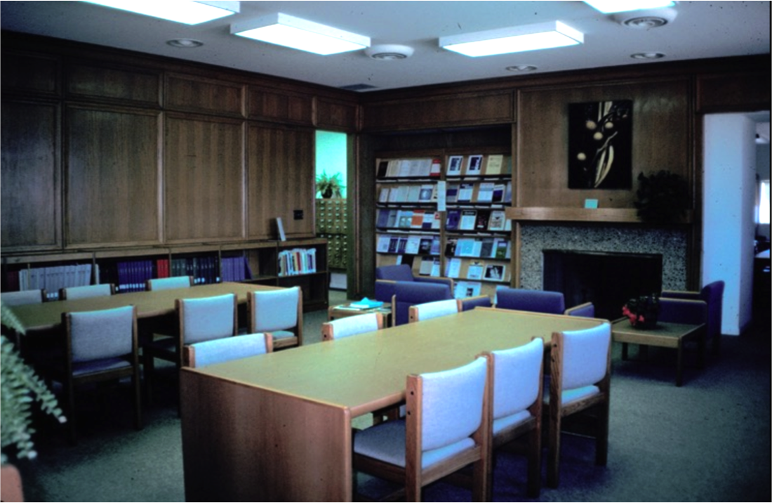 reading room in paneled Beaudette