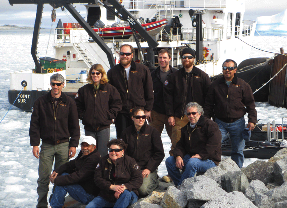 Pt Sur crew in front of vessel in Palmer