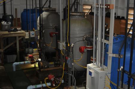 Seawater pump filters.