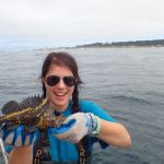 June S. holding a China Rockfish on a CCFRP trip