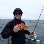 Andy H. with a Rosy Rockfish caught on a CCFRP trip