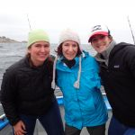 a portrait of Holly W., Deborah H. and Paige B. on a CCFRP trip