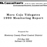 Moro Cojo Tidegates 1990 Monitoring Report