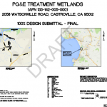 PG&E Constructed Treatment Wetland - Designs