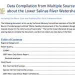 Data Compilation from Multiple Sources about the Lower Salinas River Watershed - Appendices