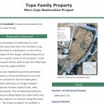 Tope Family Property Moro Cojo Restoration Project