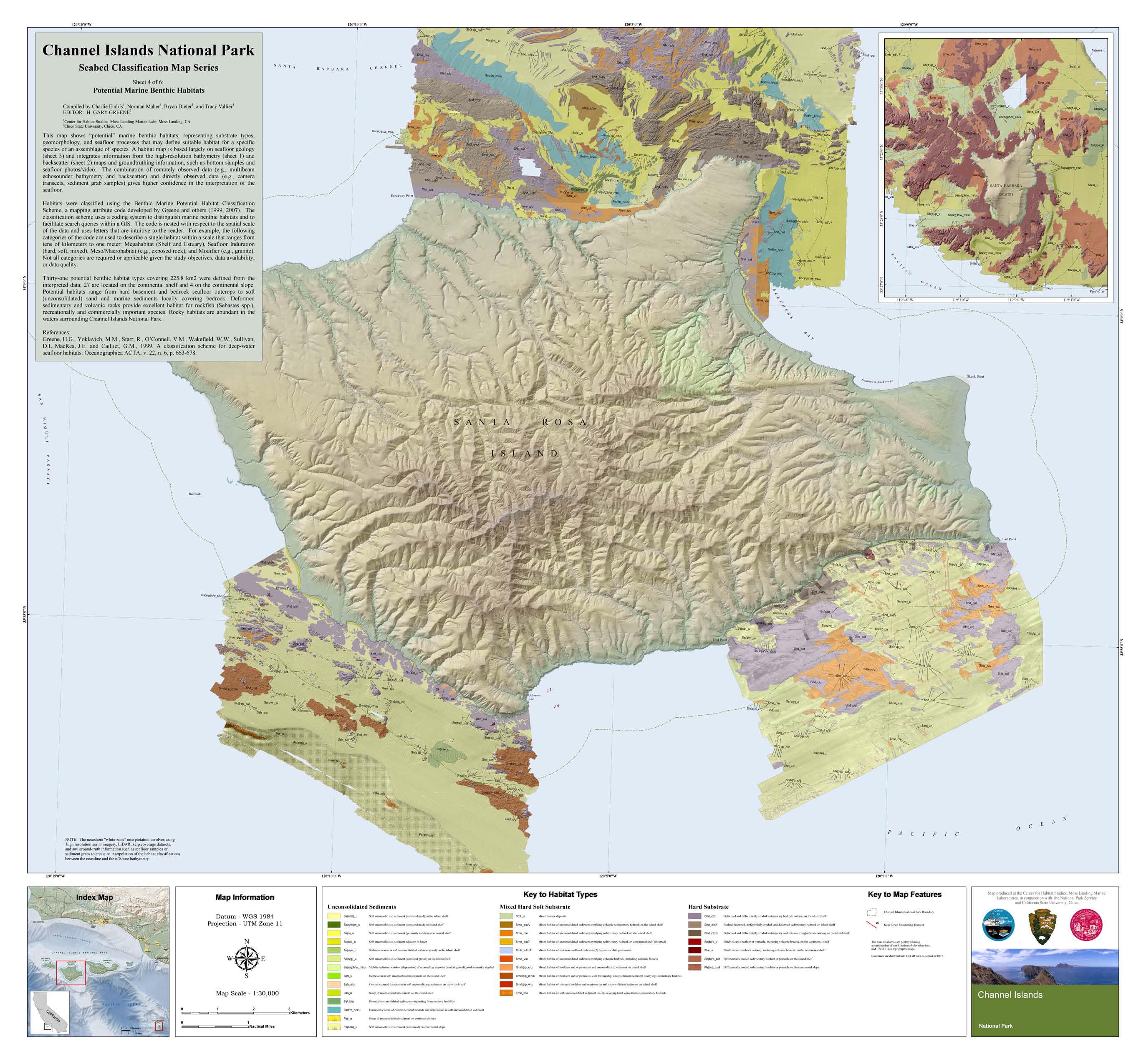 Channel Islands National Park Maps – Center for Habitat Stus on