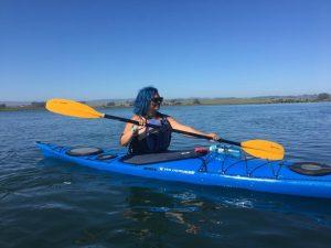 Helaina Lindsey kayaking
