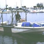 18 foot Boston Whaler sampling vessel