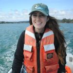 Lindsay Cooper driving boat