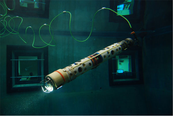 SCINI does a test dive at the Monterey Bay Aquarium Institute (MBARI).  (photo courtesy of the SCINI project)
