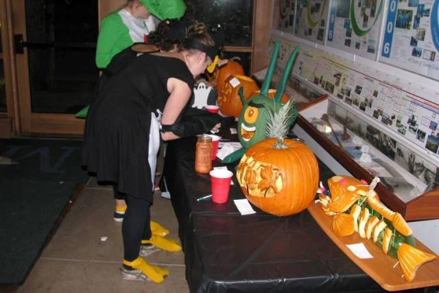Voting for best pumpkin!