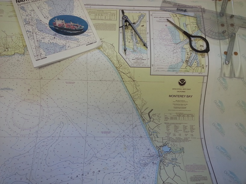 Nautical charts and tools to plan a route. We'll be navigating the high seas in no time!