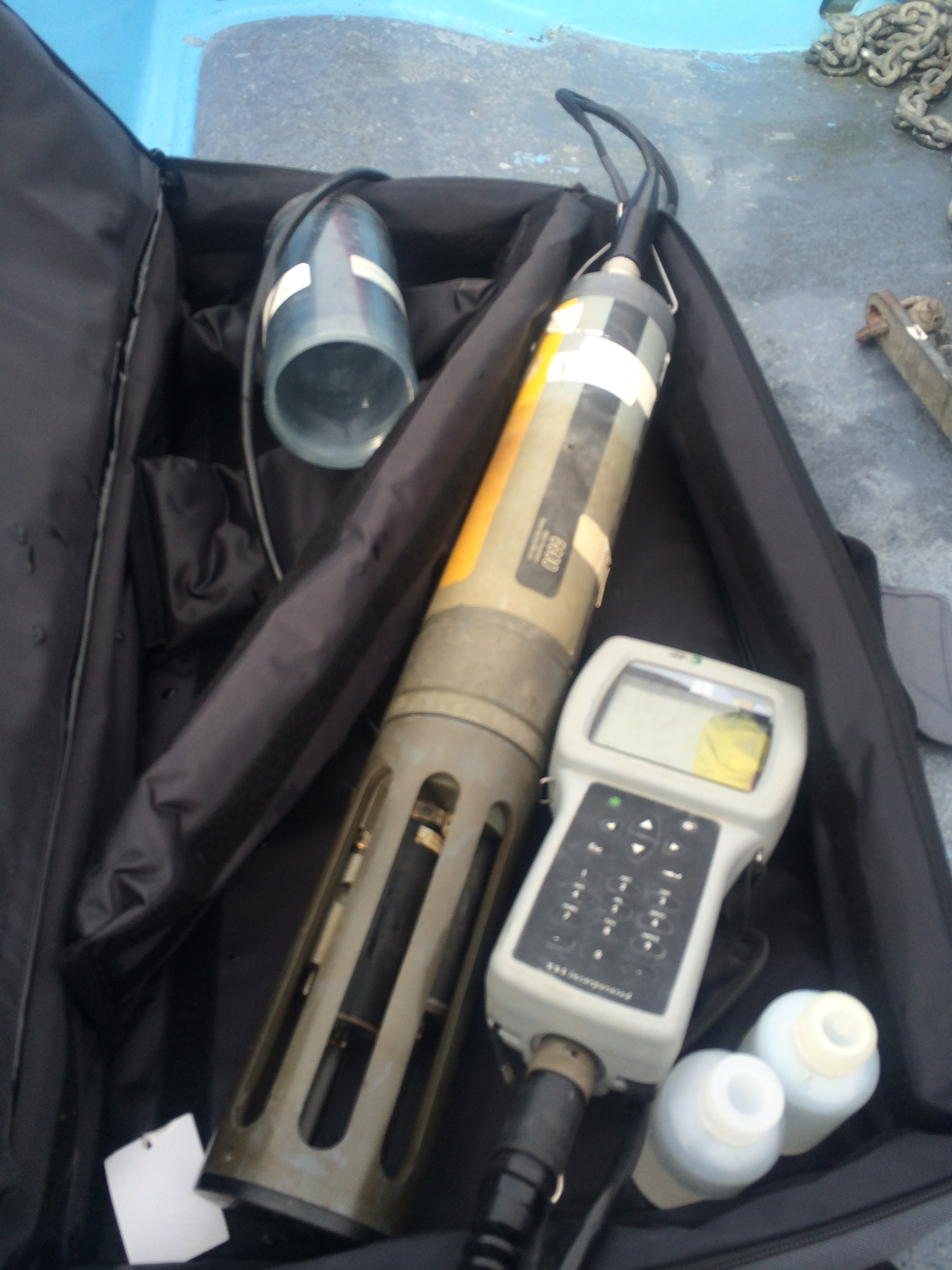 CTD measures salinity, temperature, pH among other oceanographic variables