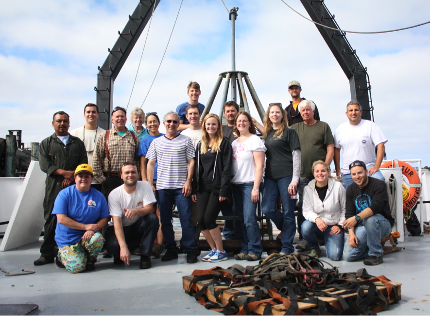 The Fog Cruise Scientists and Crew after offloading in Eureka, CA. The coolest mother-foggersTM you will ever meet (Photo by Alex Olson's camera)