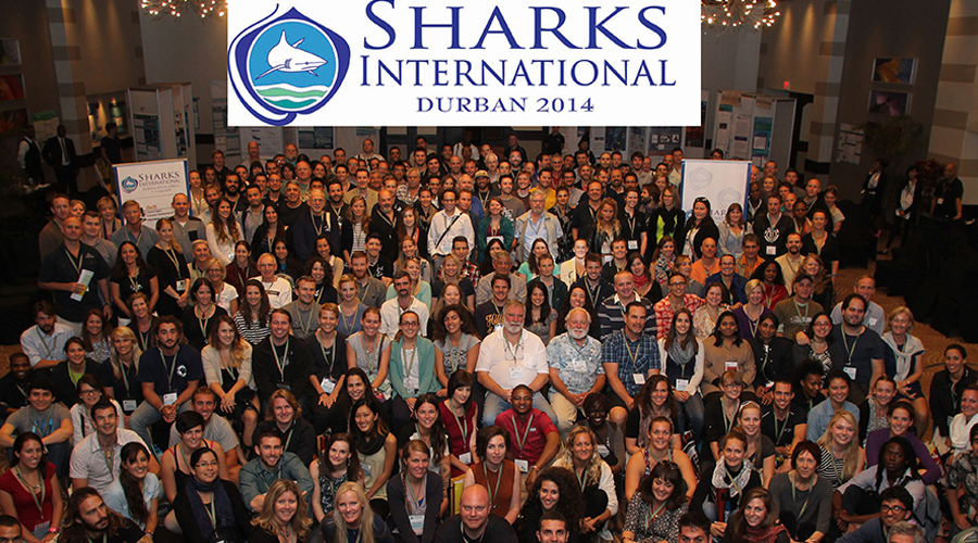Group photo of shark scientists from around the world at the second ever, Sharks International Conference held in Durban, South Africa in 2014.