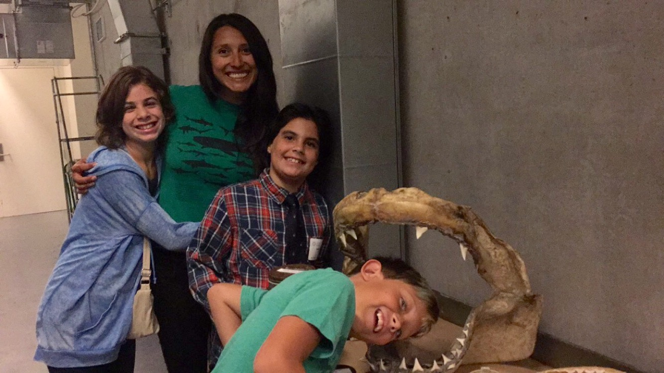 The minds behind the Ninja Lanternshark at the California Academy of Sciences (missing in photo is one older female cousin).