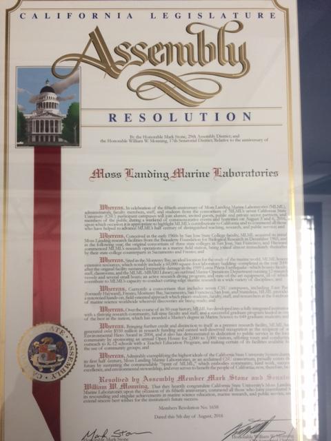 CA State resolution