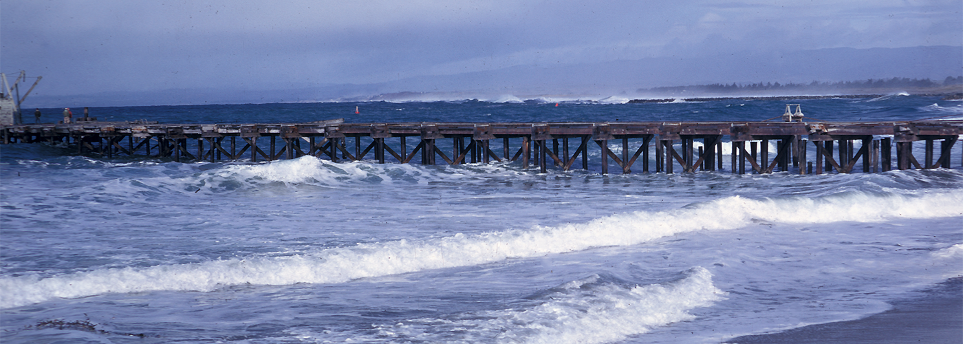 Photo of the Moss Landing Pier taken in the 1980s