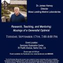 Ed Ricketts Memorial Award and Lecture – September 17th
