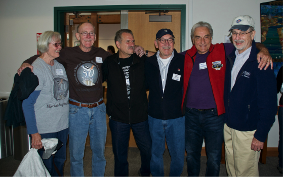 Ann and Bill Davis, Victor Anderlini, Rich Ajeska, Chuck Versaggi, and Bud Laurent. Photo by Serafina Versaggi.